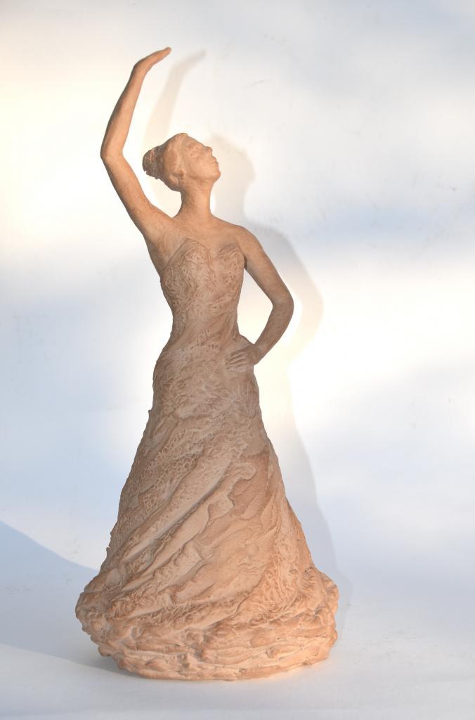 Danse - sculpture argile de Nathalie Lefort