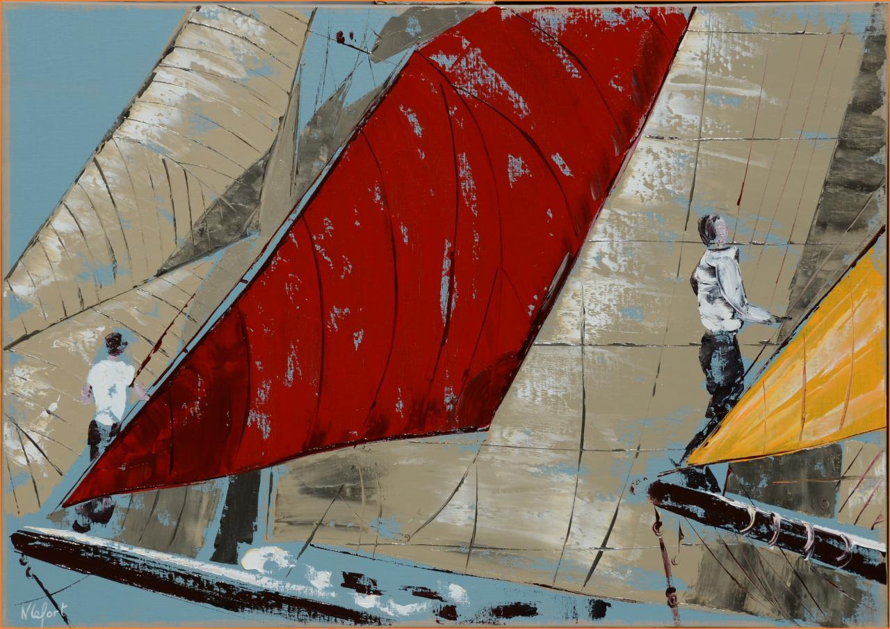 La proue huile marine de Nathalie Lefort
