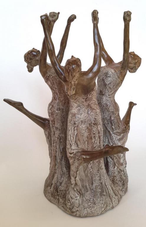 La Ronde - Sculpture bronze de Nathalie Lefort