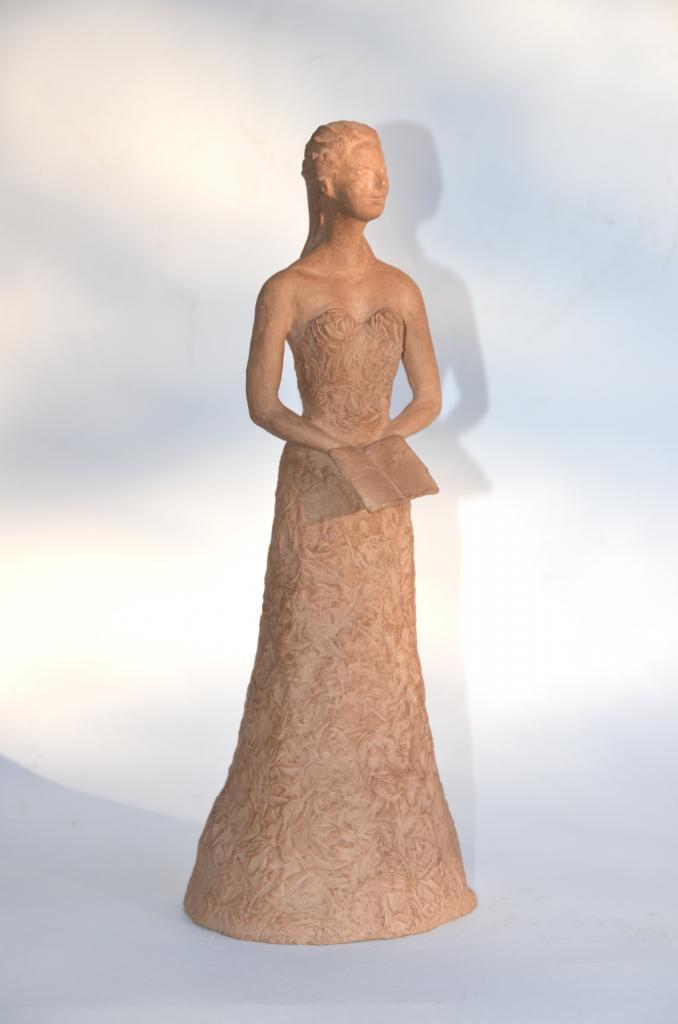 Le livre - sculpture argile de Nathalie Lefort