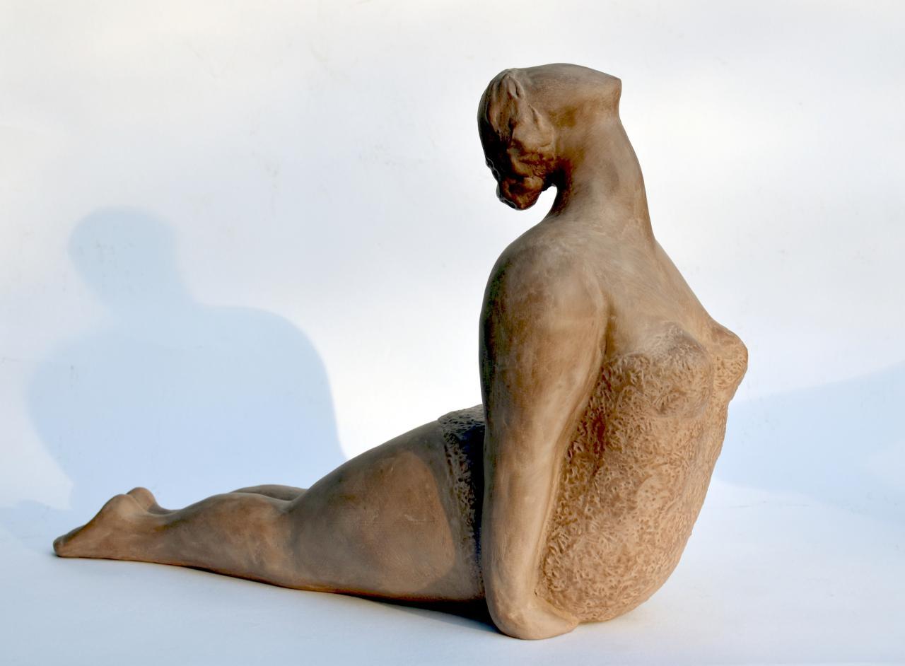 Les grâcieuses N°2 - sculpture argile de Nathalie Lefort