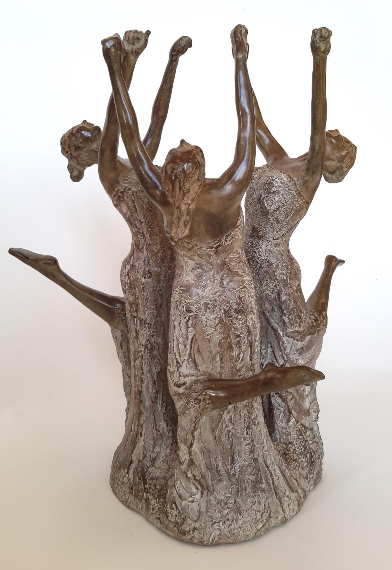 La ronde sculpture bronze de nathalie lefort