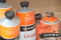 Tubes orange de nathalie lefort peintre et sculpteur